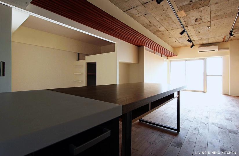 キッチン×天井ルーバー